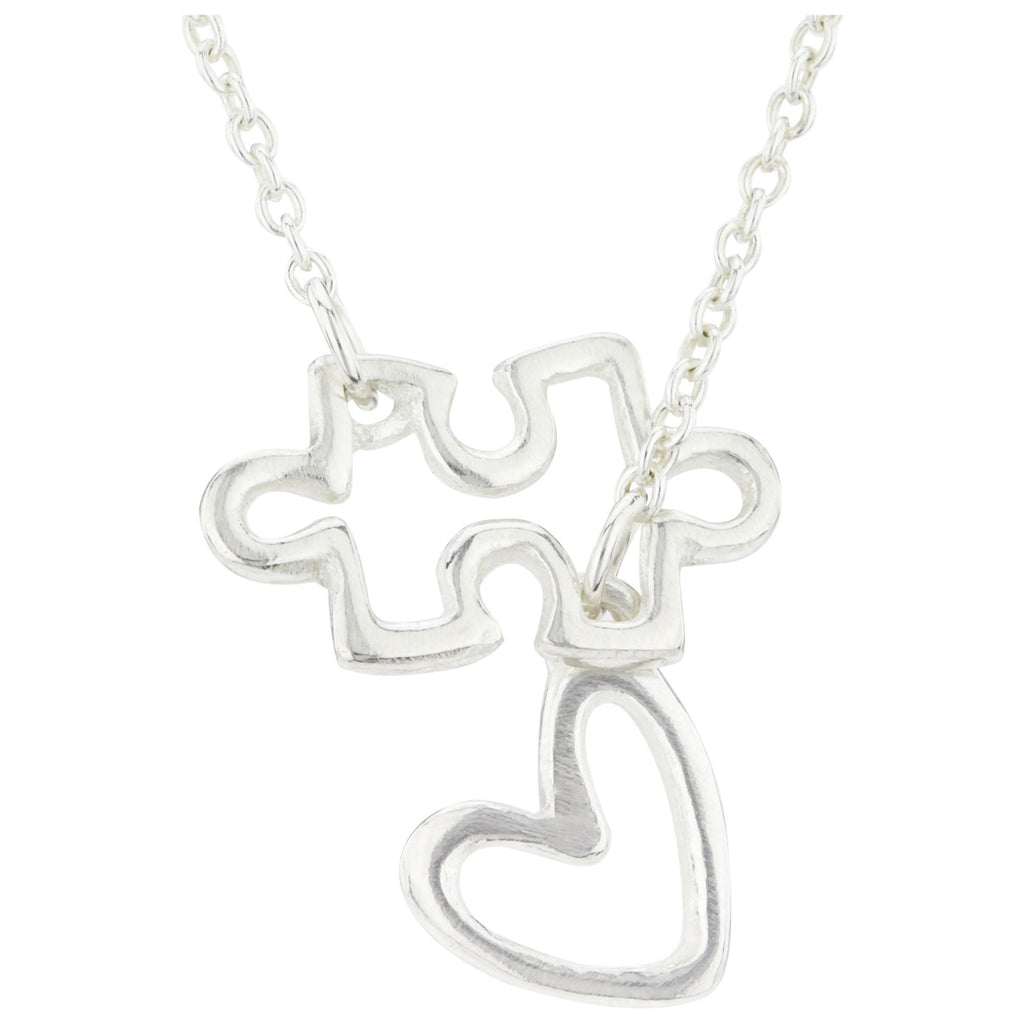 Puzzle & Heart Sterling Necklace