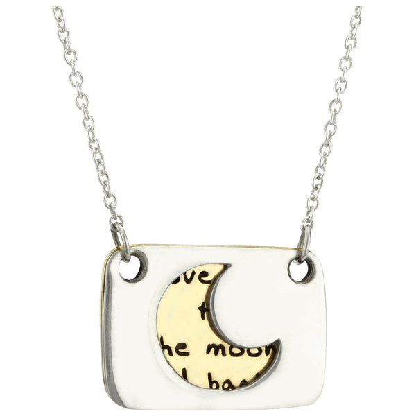 Love You To The Moon Sterling Necklace