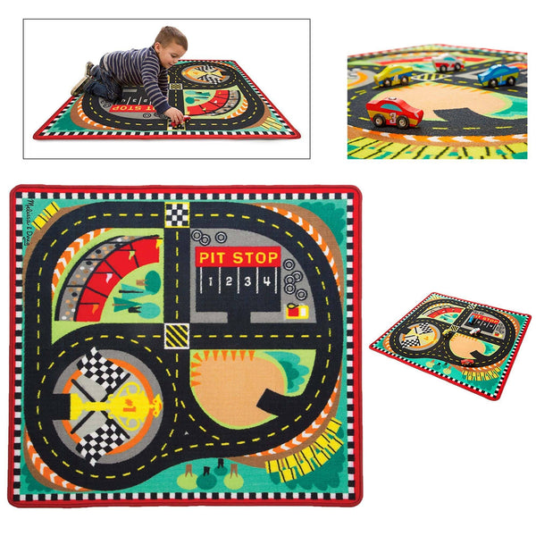 Round The Race Track Rug & Car Set