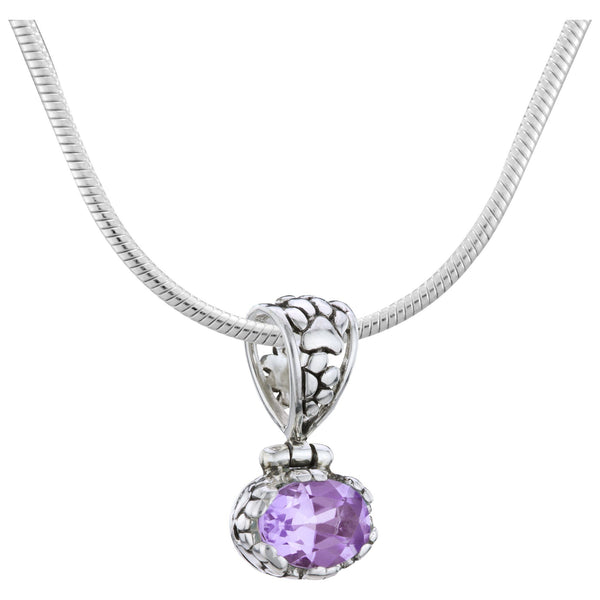 HSUS Sterling & Amethyst Paw Necklace