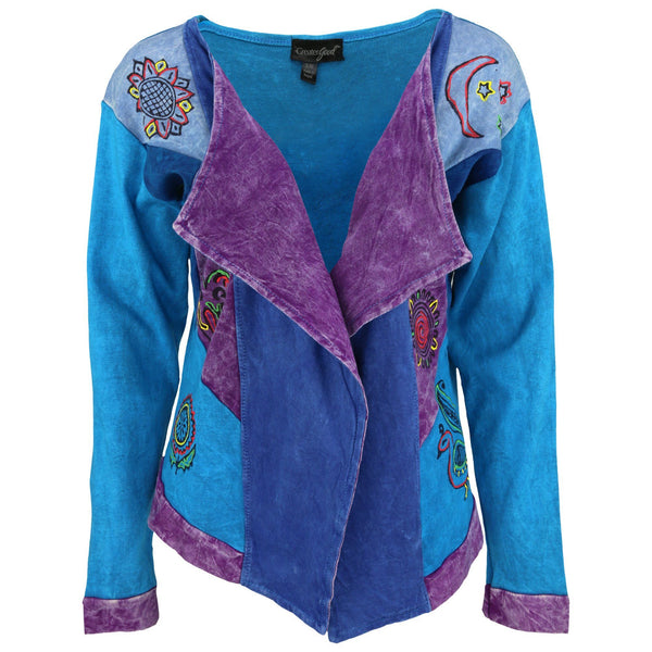 Blue Skies Patchwork Jacket