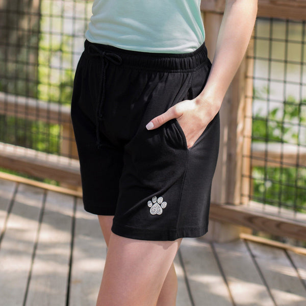 Paw Print Swirl Casual Shorts
