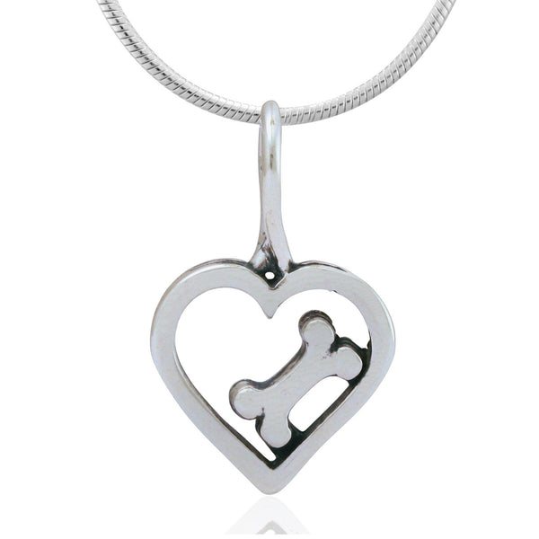 Bone-A-Fide Love Recycled Sterling Necklace