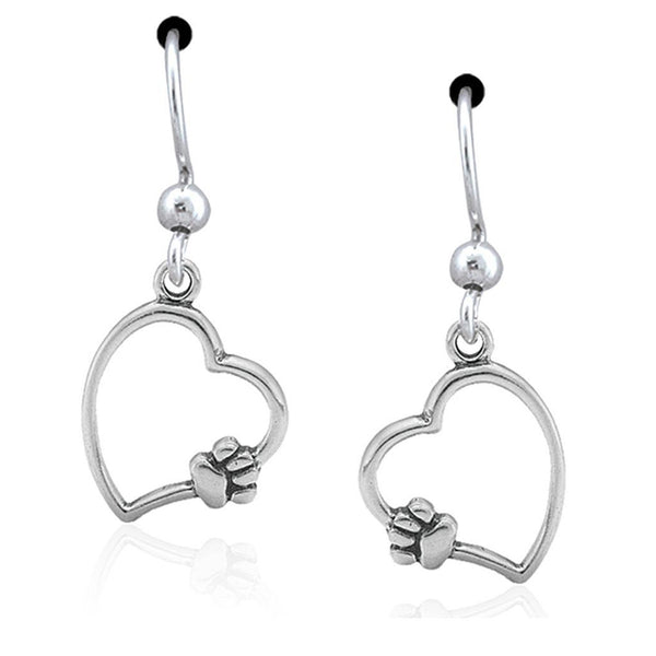 Paws On My Heart Sterling Earrings