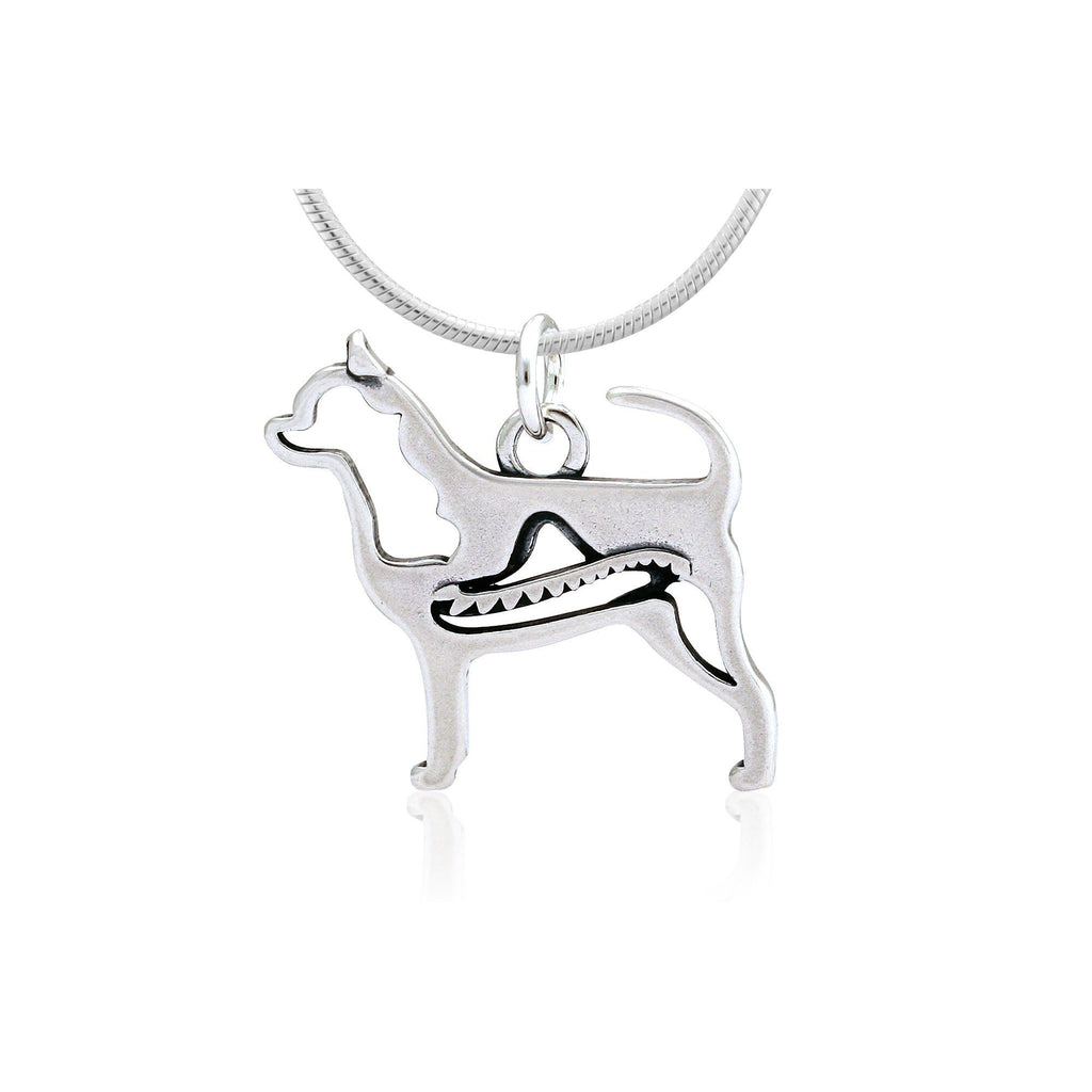 Smooth Coat Chihuahua Sterling Necklace