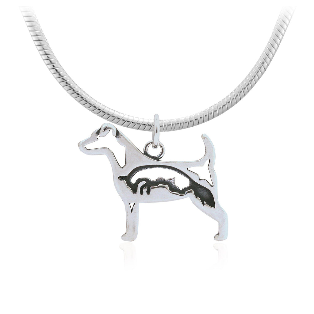 Jack Russell Terrier Sterling Necklace