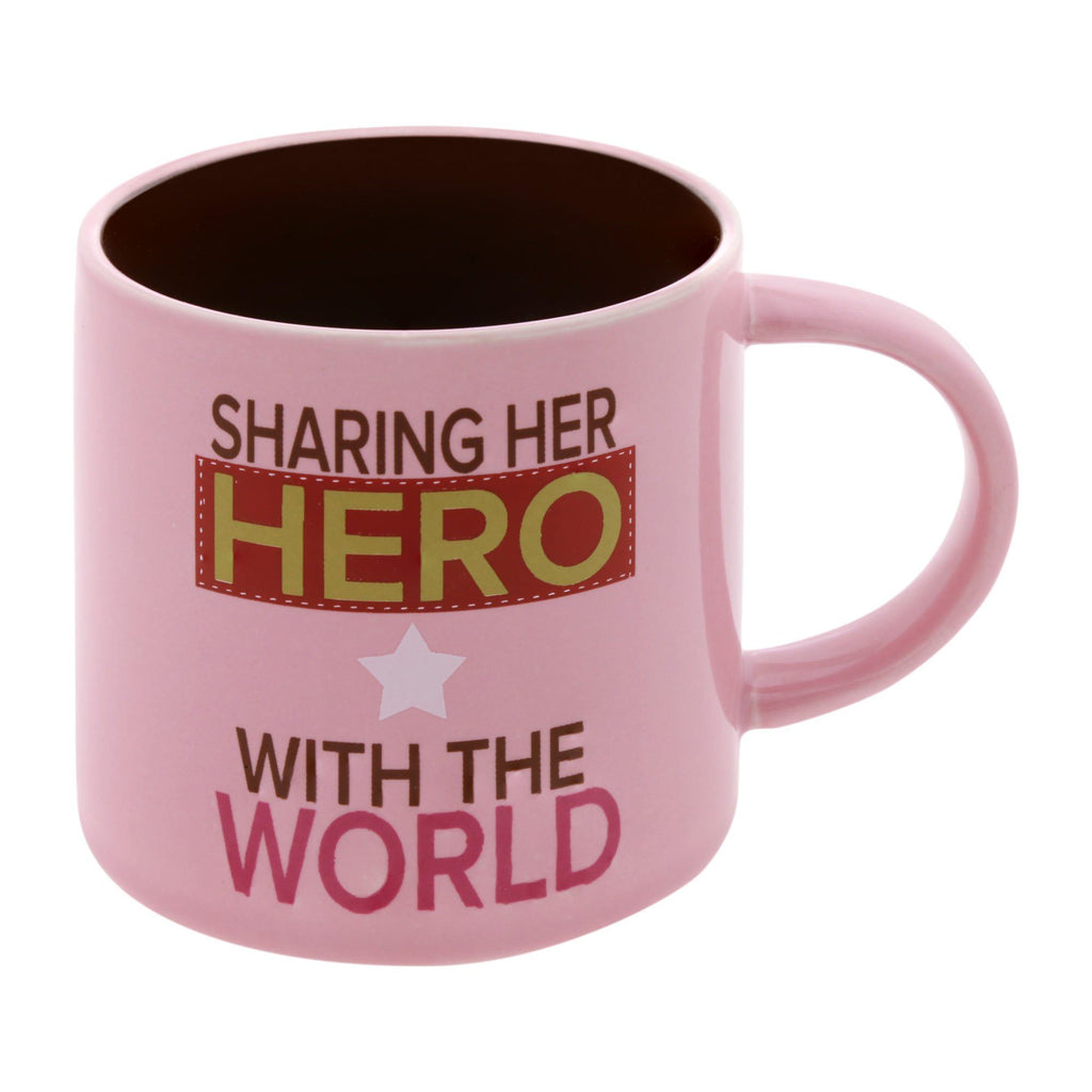 Sharing Her Hero With The World Mug