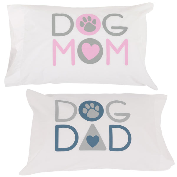 Dog Mom Dog Dad Pillow Case Set