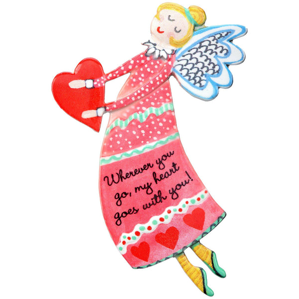 Wherever You Go Angel Visor Clip