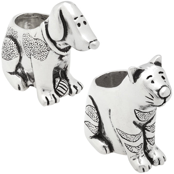 Pewter Pets Toothpick Holder