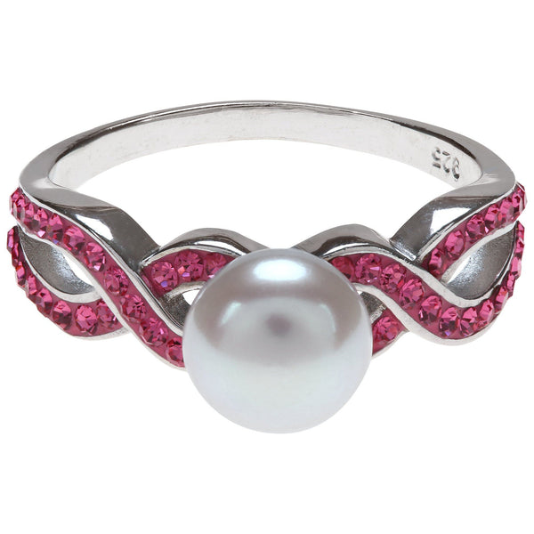 Pink Ribbon Pearl & Sterling Ring