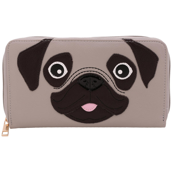 Pug Puppy Zip Wallet