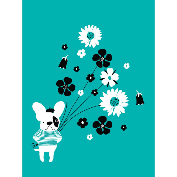 Frenchie & Flowers Notecards - Set Of 8