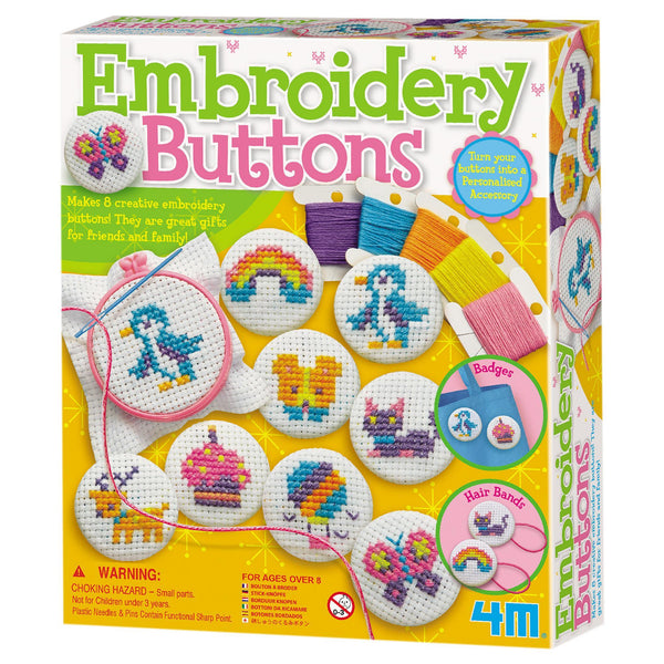 4M® Embroidery Buttons Kit