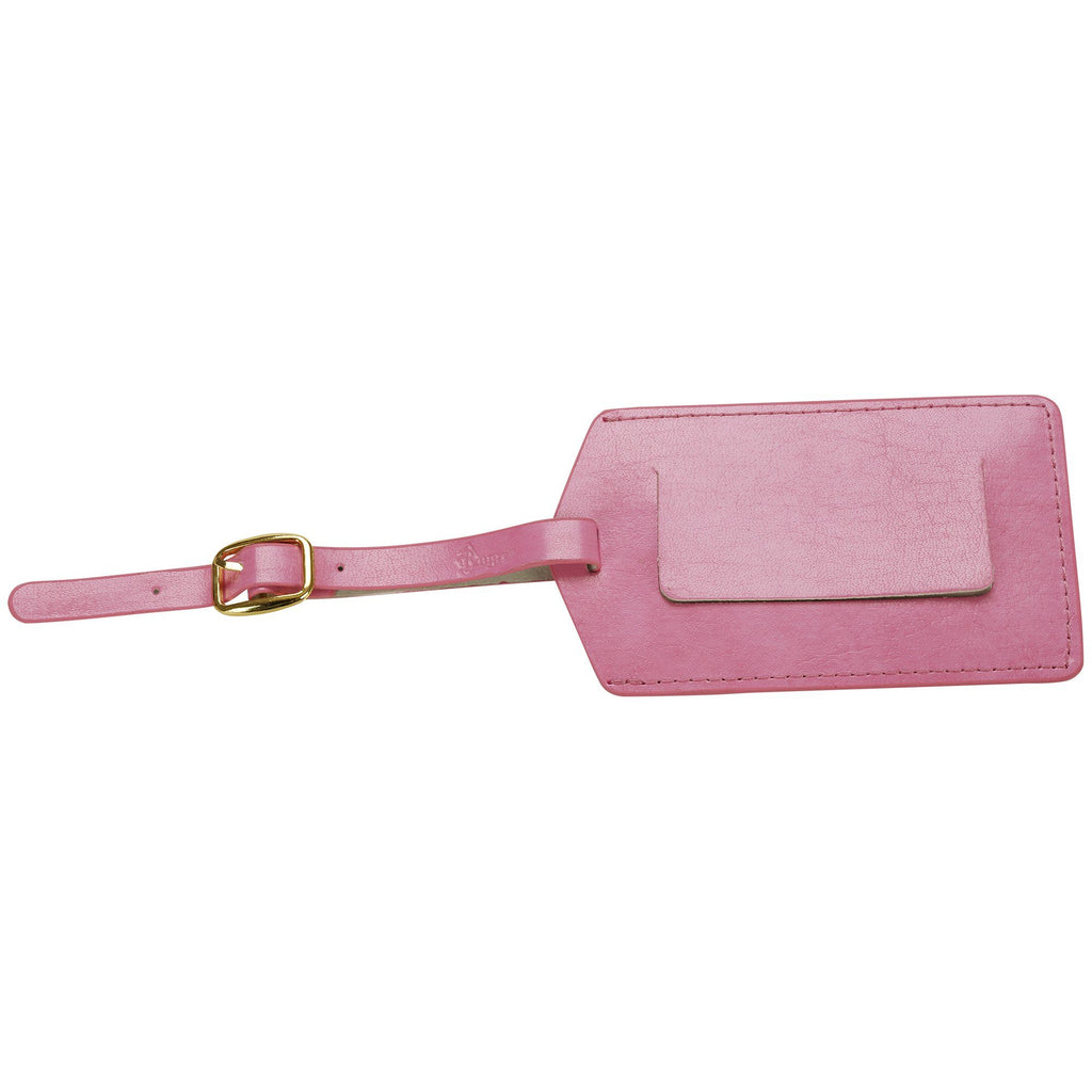 Royce Pink Leather Luggage Tag