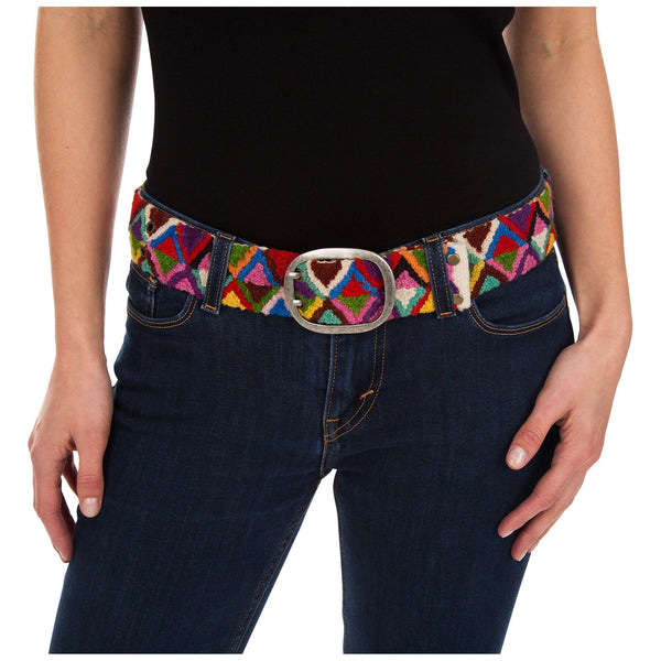 Peruvian Embroidered Triangle Belt