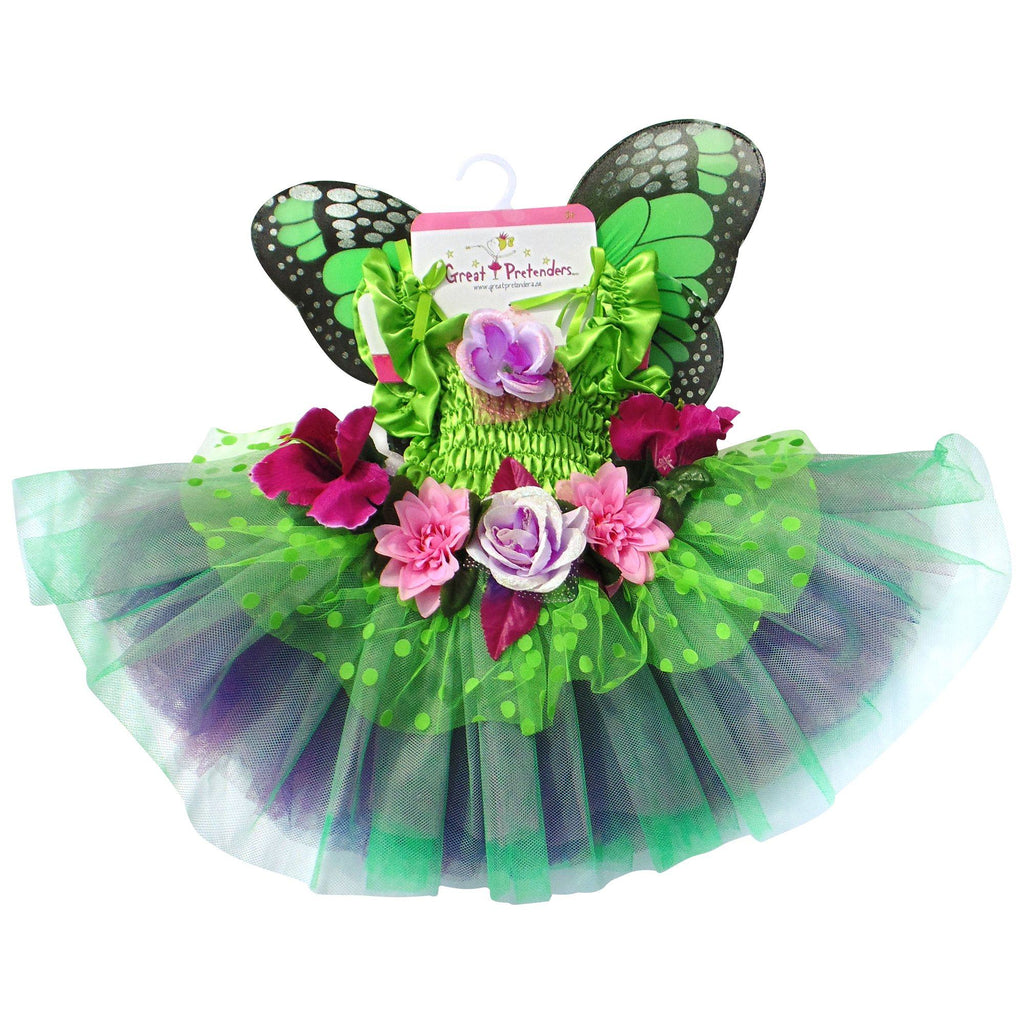 Fairy Blooms Deluxe Dress With Wings