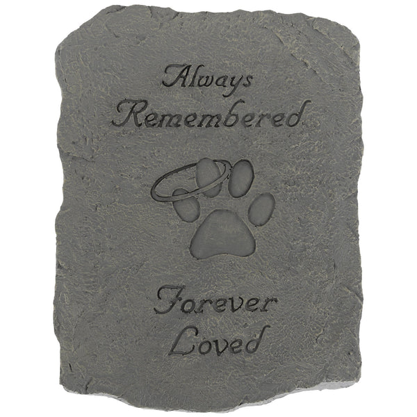 Always Remembered Forever Loved Garden Stone