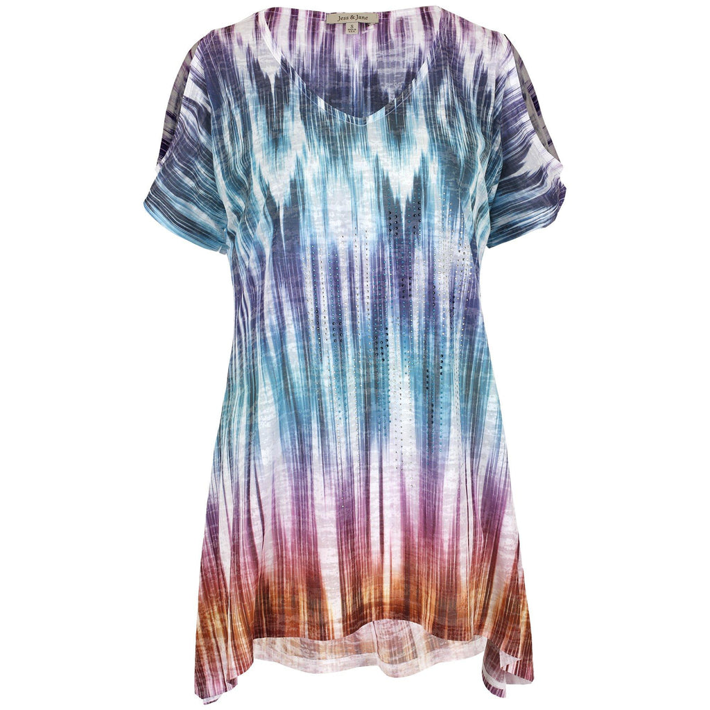 Northern Lights Burnout Tunic