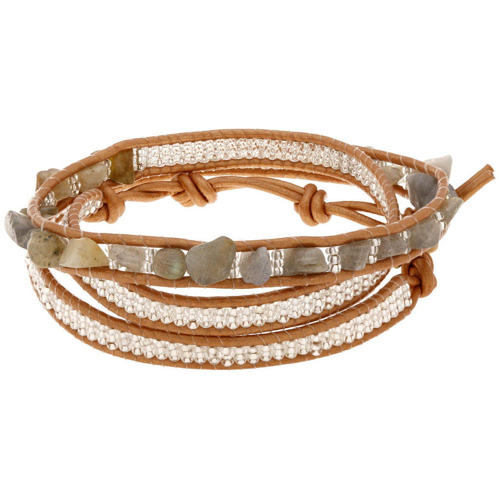 Sasa Earth 3x Wrap Bracelet
