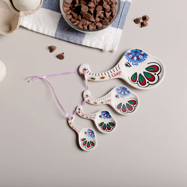 Elephant Beauty Ceramic Measuring Spoons