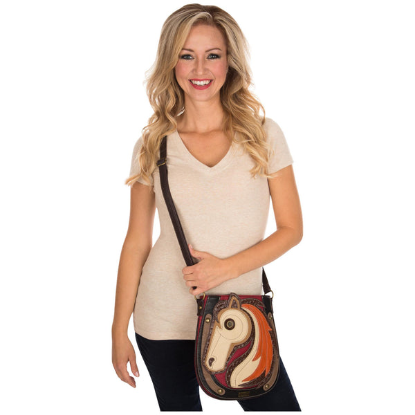 Horse Beauty Crossbody Shoulder Bag