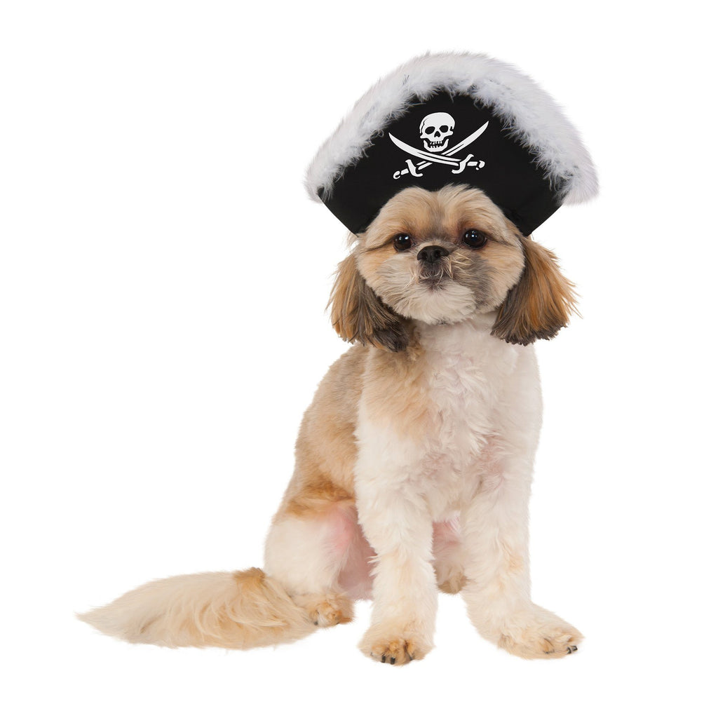Feather Trimmed Pirate Hat Pet Costume