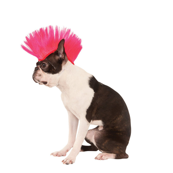 Hot Pink Mohawk Pet Wig