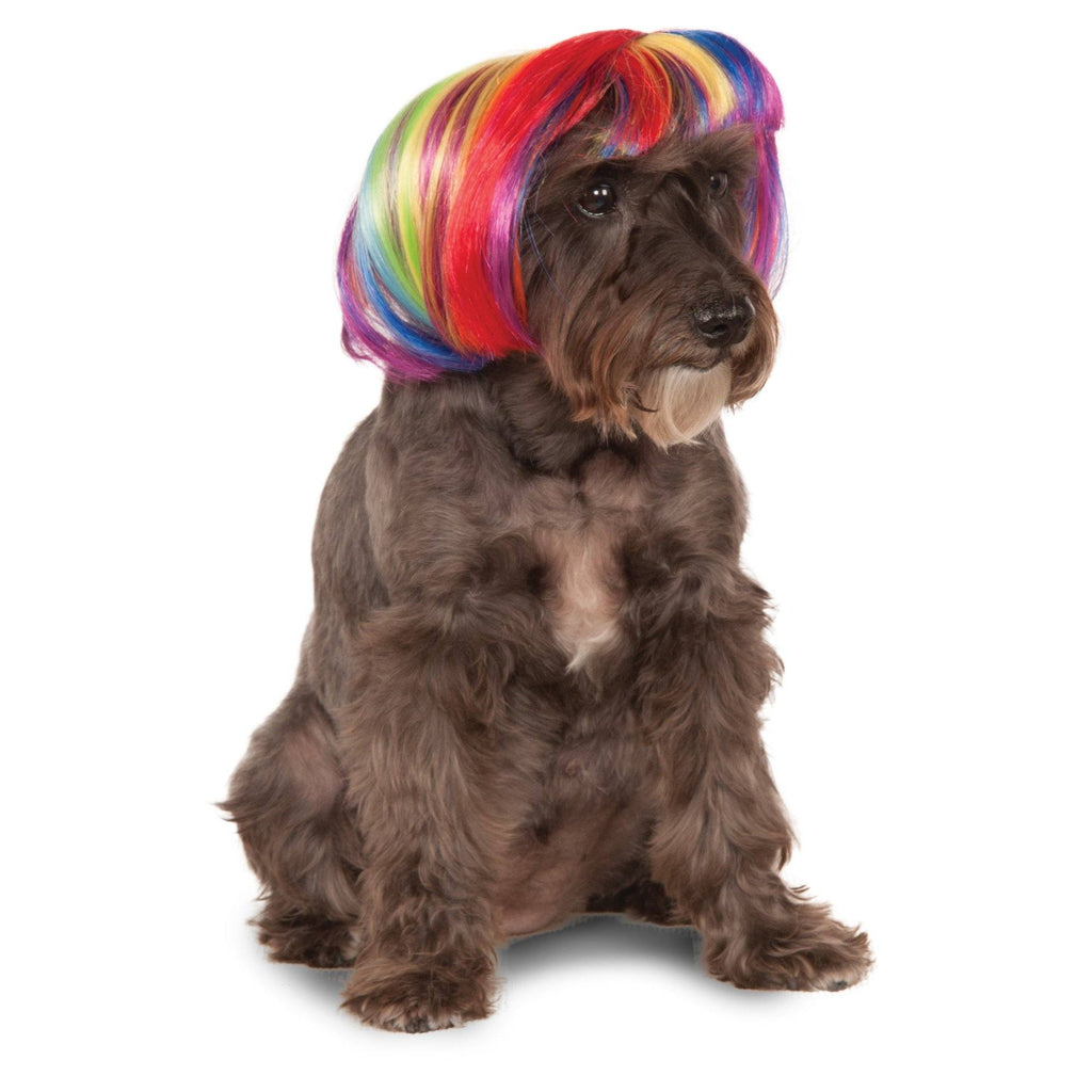 Rainbow Bob Pet Costume Wig
