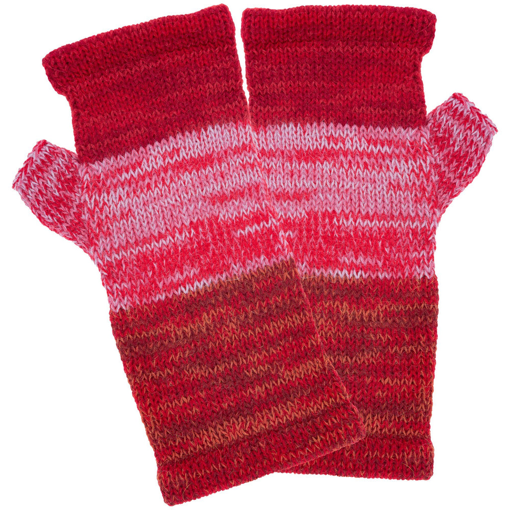 Alpaca Wool Fingerless Mittens