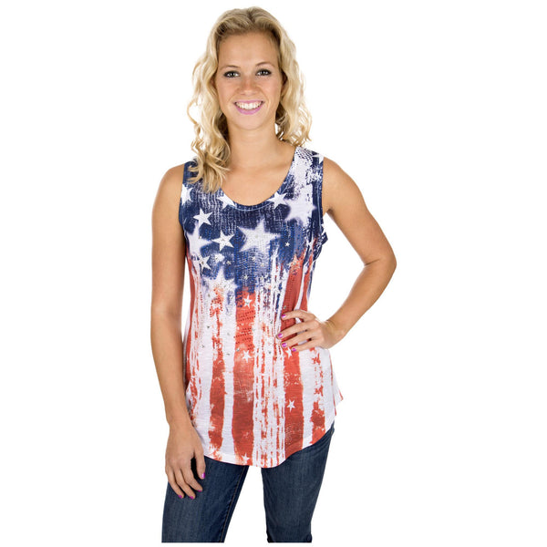 Distressed Flag Tank Top