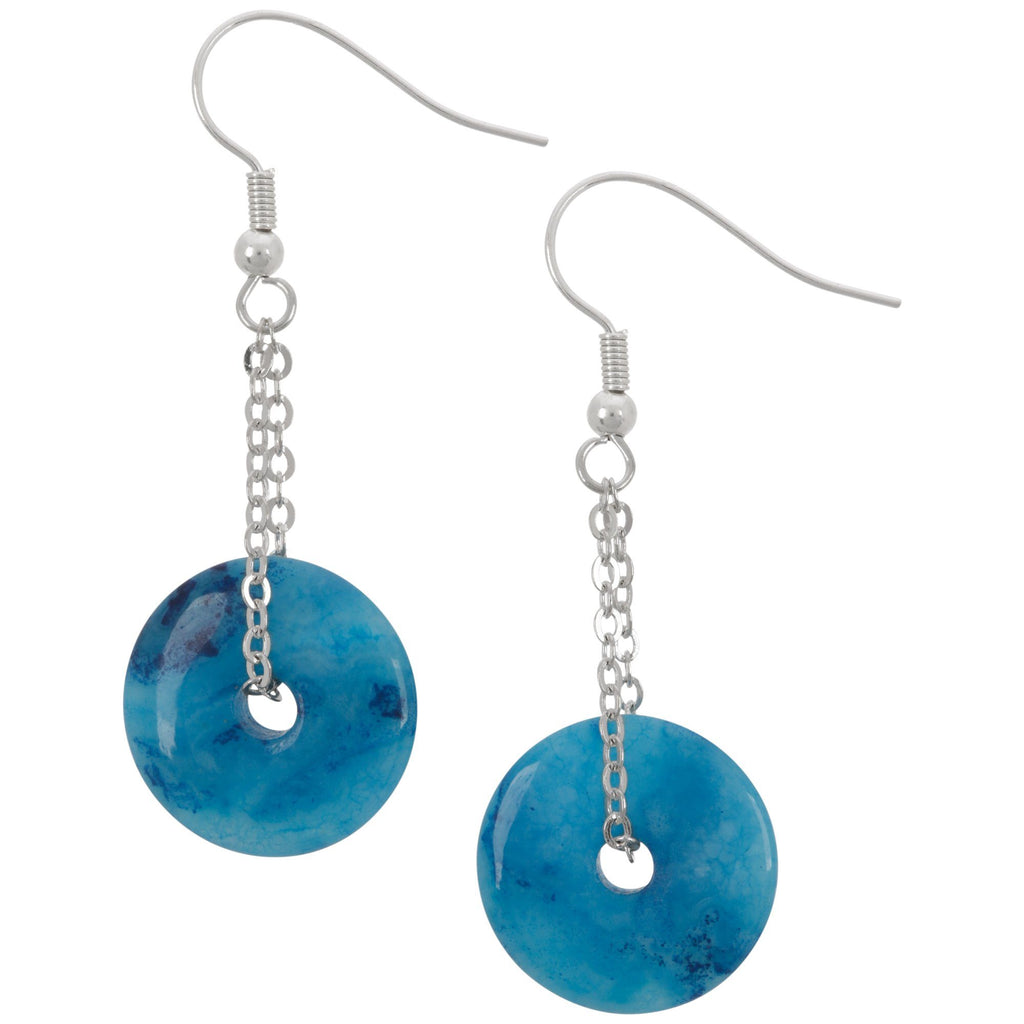 Perfect Circle Agate Earrings