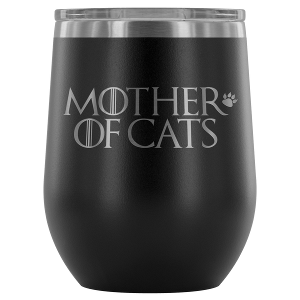Wine Tumbler - Mother Of Cats Wine Tumbler
