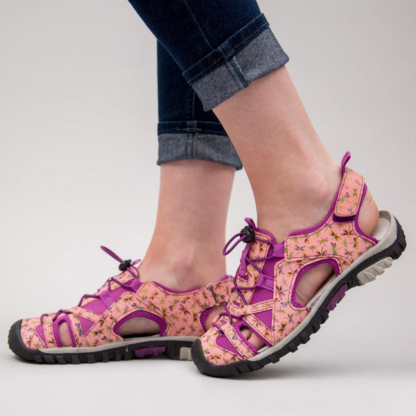 Pink Dragonfly Sport Sandals