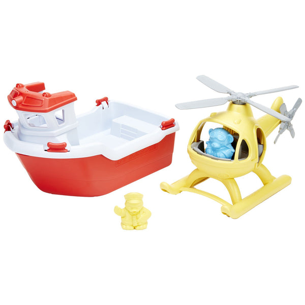 Green Toys™ Rescue Boat & Helicopter