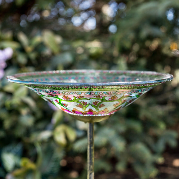 Floral Medallion Bird Bath