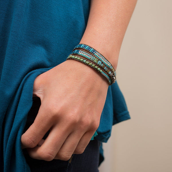Lulu Beaded Stacked Bracelet
