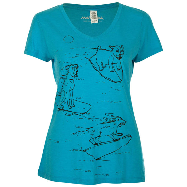 Surf Dogs Tri-Blend V-Neck Tee