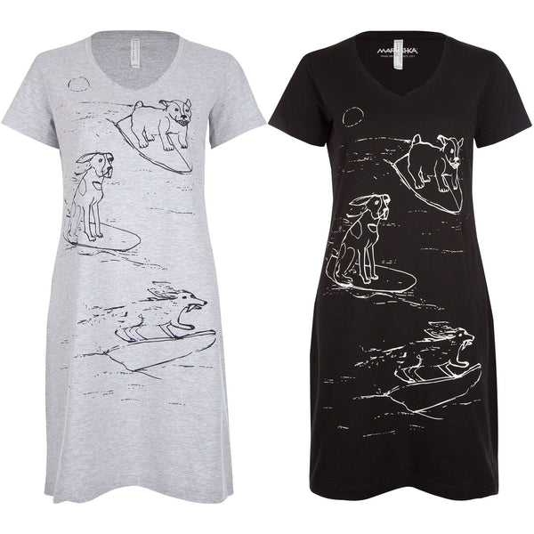Surf Dogs T-Shirt Dress