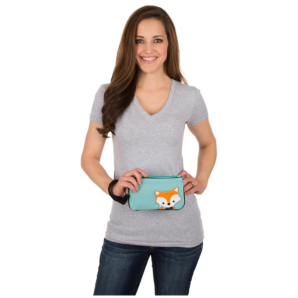 Peeking Baby Fox Wristlet