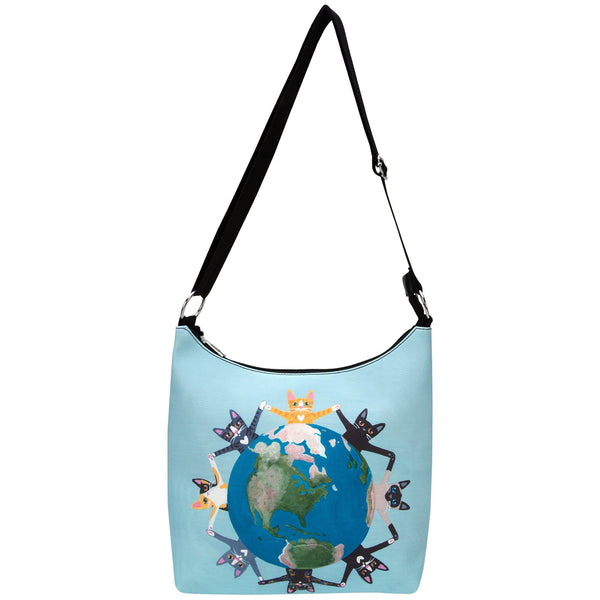 Cats Around The World Messenger Bag