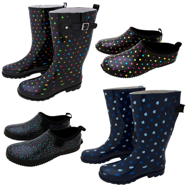 Polka Dot Rain Footwear Collection