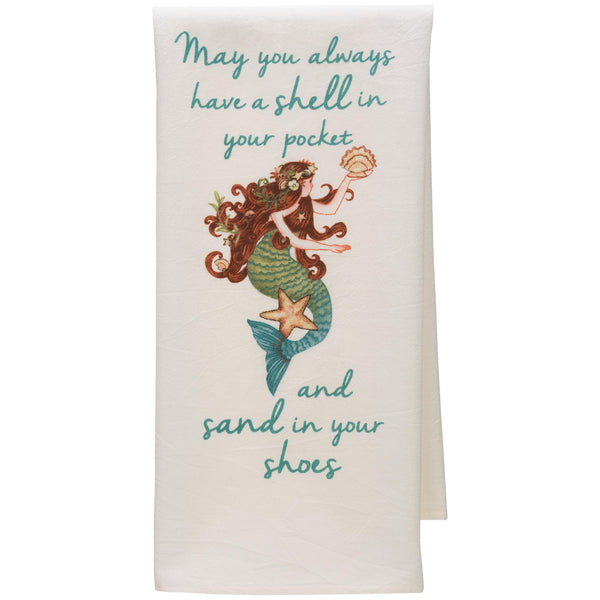 Seas The Day Mermaid Kitchen Towel