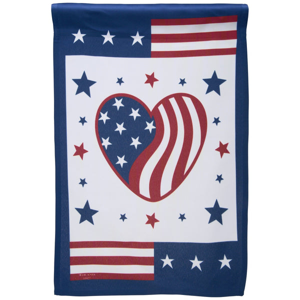 Heart Of America Garden Flag