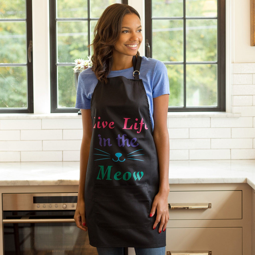 Live Life In The Meow Apron
