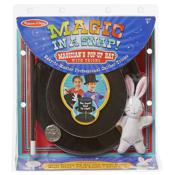 Magic In A Snap! Magician's Pop-Up Magical Hat With Tricks Collection