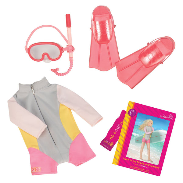 Our Generation® Coral's™ Read & Play Set