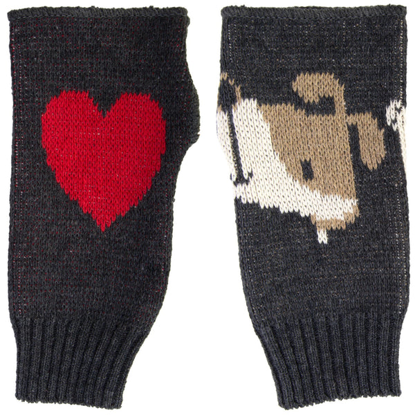 Puppy Love Fingerless Mittens