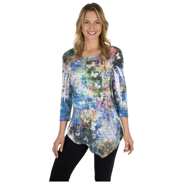 Teeming Garden Asymmetric Tunic