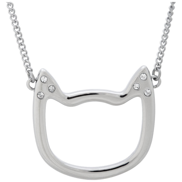Cat Silhouette Stainless Steel Necklace
